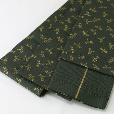 米沢織 正絹角帯 【遊粋】 (6261)角帯トンボ柄