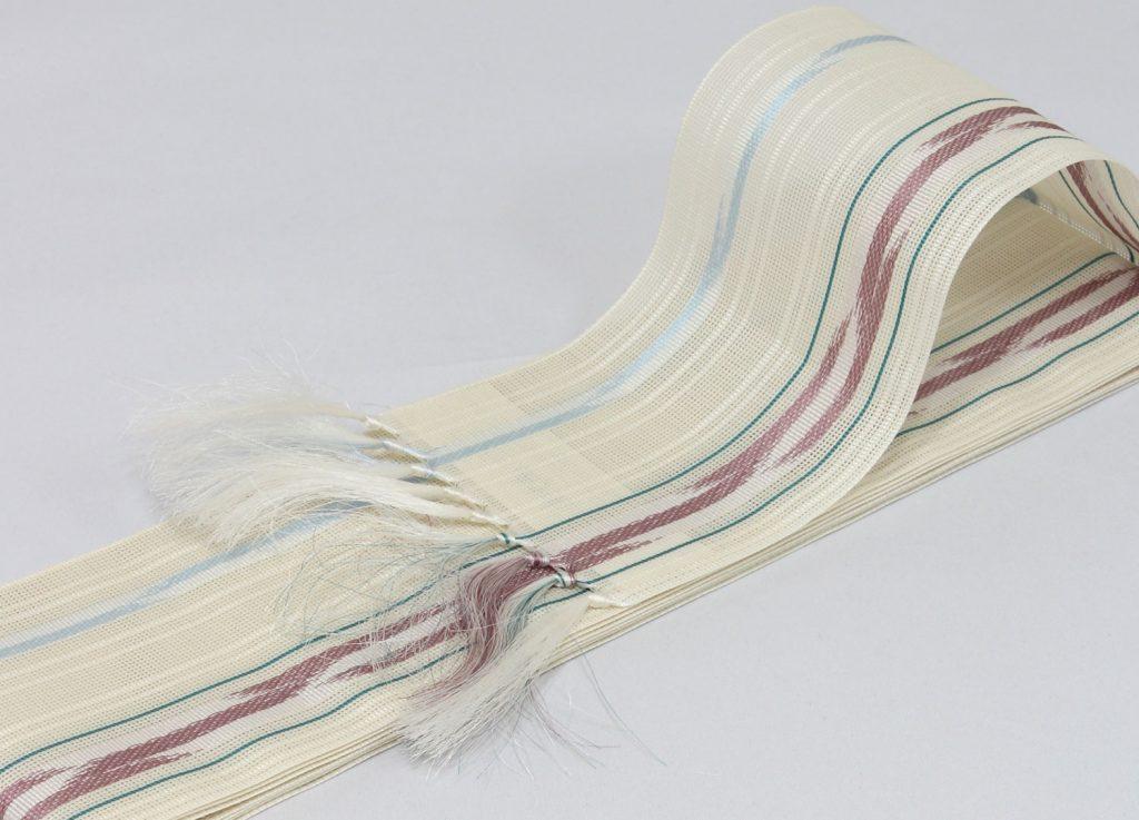 角帯 正絹 博多織物 夏帯 紗 羅