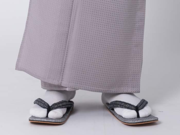 男着物のコーディネート白足袋