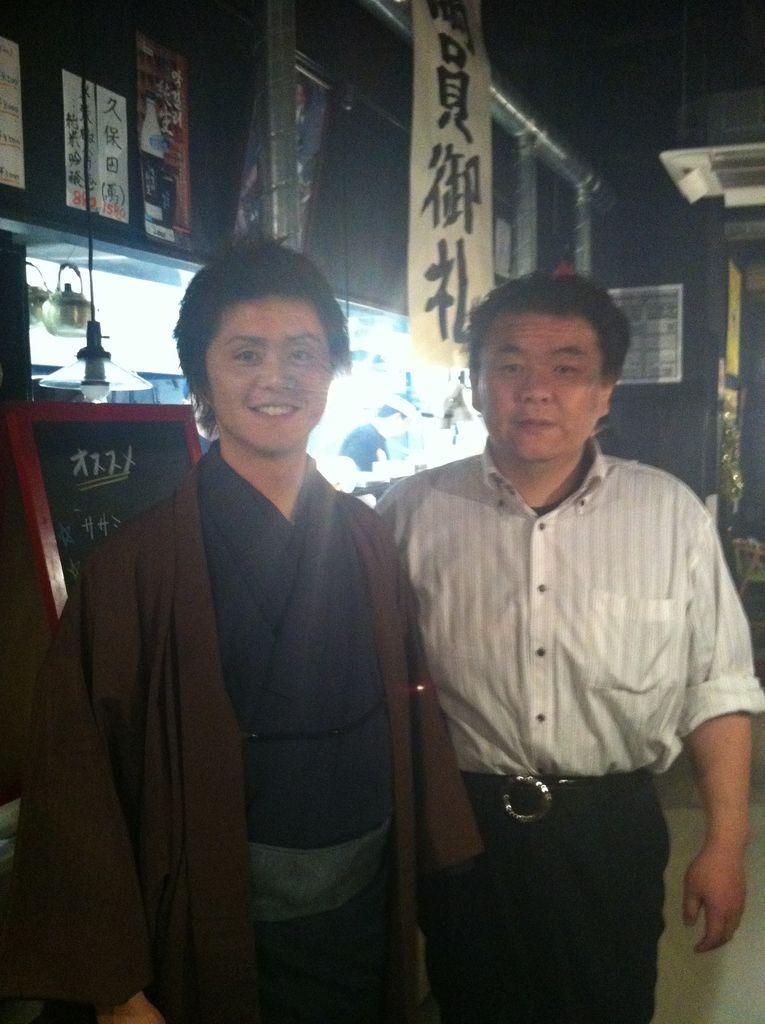 東京の焼肉屋さんにて