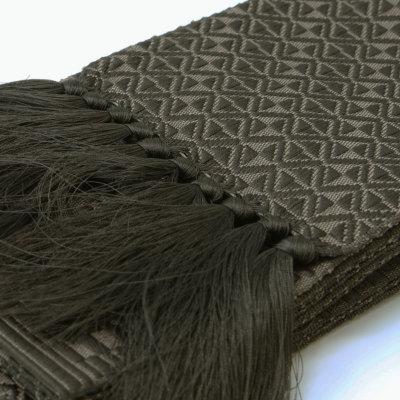 角帯 正絹 博多織物 濃グレー (7013)