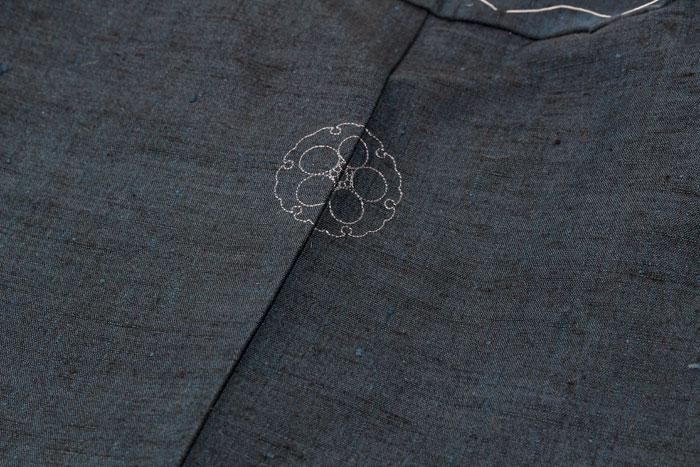 男着物_家紋刺繍