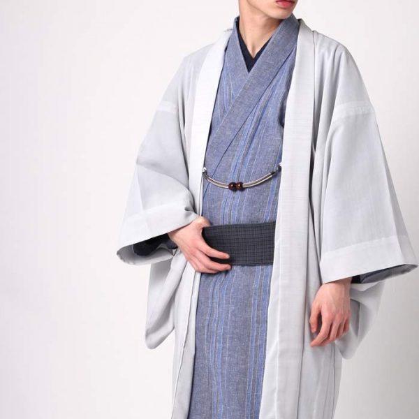 紗の男羽織は残暑に便利