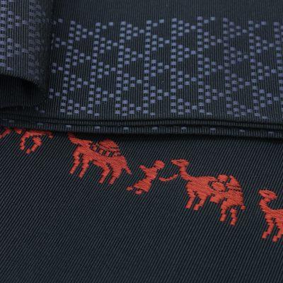 角帯 正絹 博多織物 原田織物 ラクダ (7129)