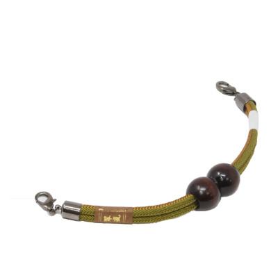 羽織紐 男 マグネット 正絹組紐 抹茶×金茶 (7189)