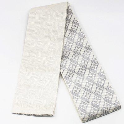 角帯 正絹 博多織物 白(7248)