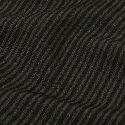 男着物 洗える着物 東レシルジェリー 縞 黒灰(7295)
