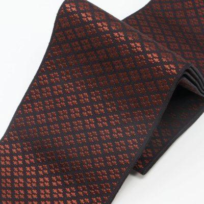 角帯 正絹 博多織物 原田織物 格子(7329)