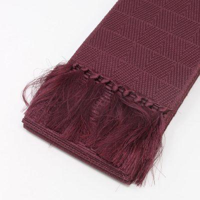 角帯 正絹 博多織物 小豆色(7330)