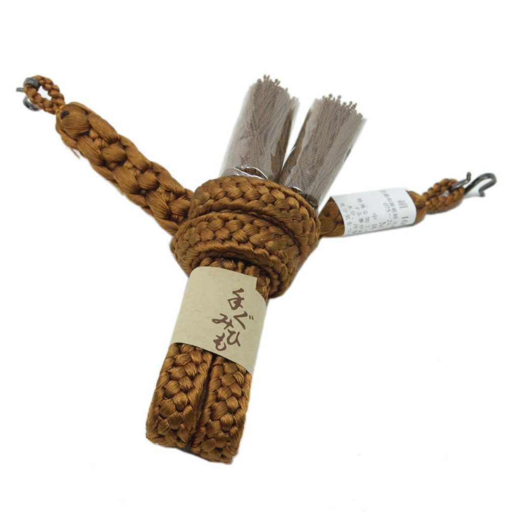 羽織紐 男性用 中尺 金茶(7348)