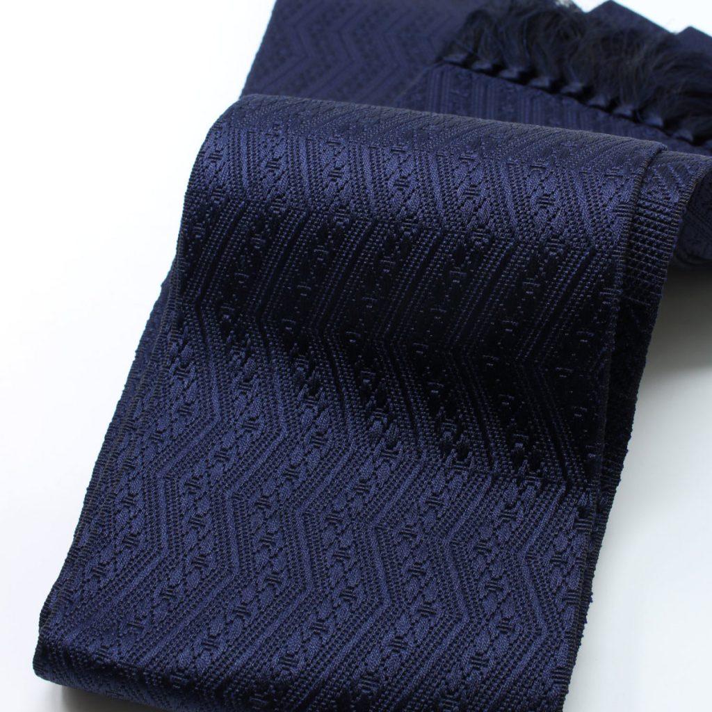 角帯 正絹 博多織物 濃紺(7354)