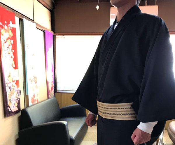 男着物のオーダー