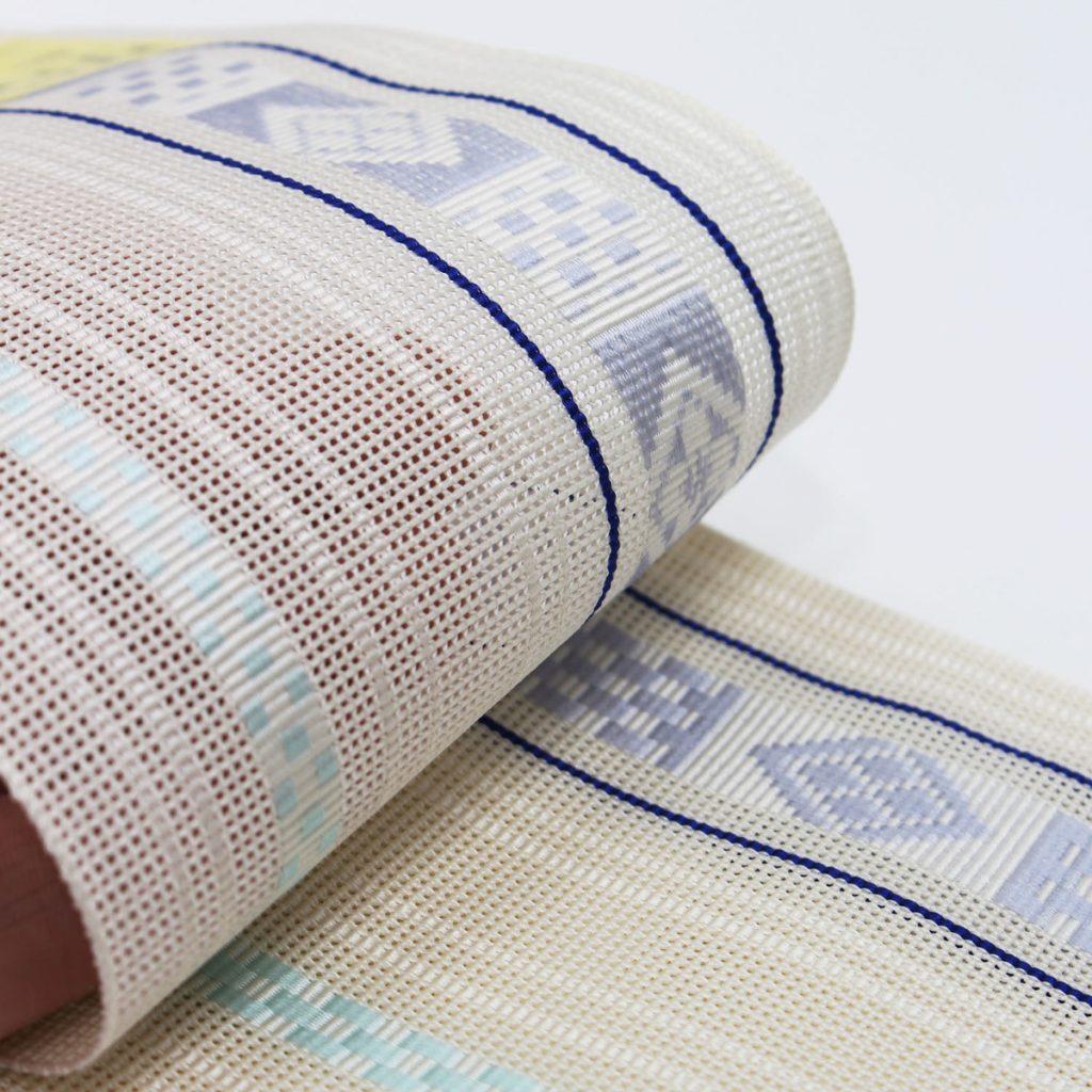 角帯 正絹 博多織物 夏帯 紗 羅 白 (7144)
