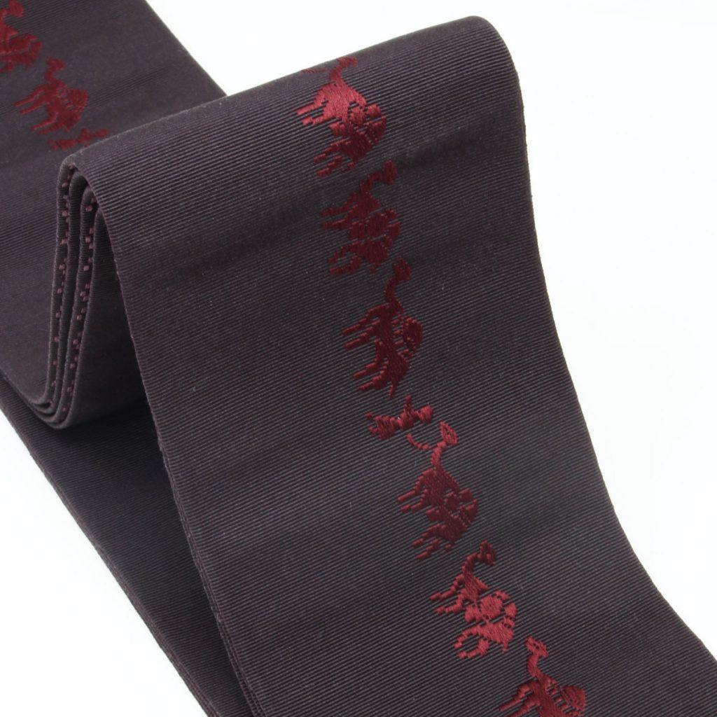 角帯 正絹 博多織物 原田織物 ラクダ(7328)