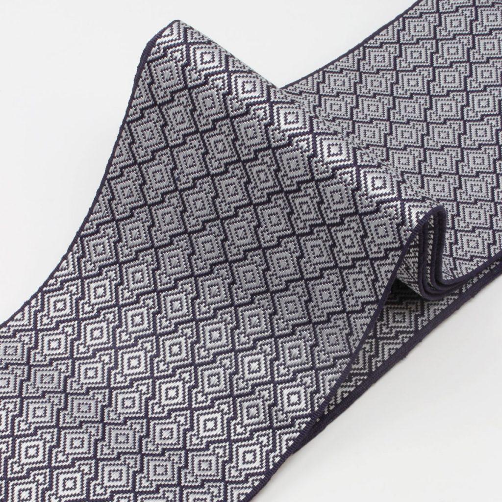 角帯 正絹 博多織物 変わり菱(7331)