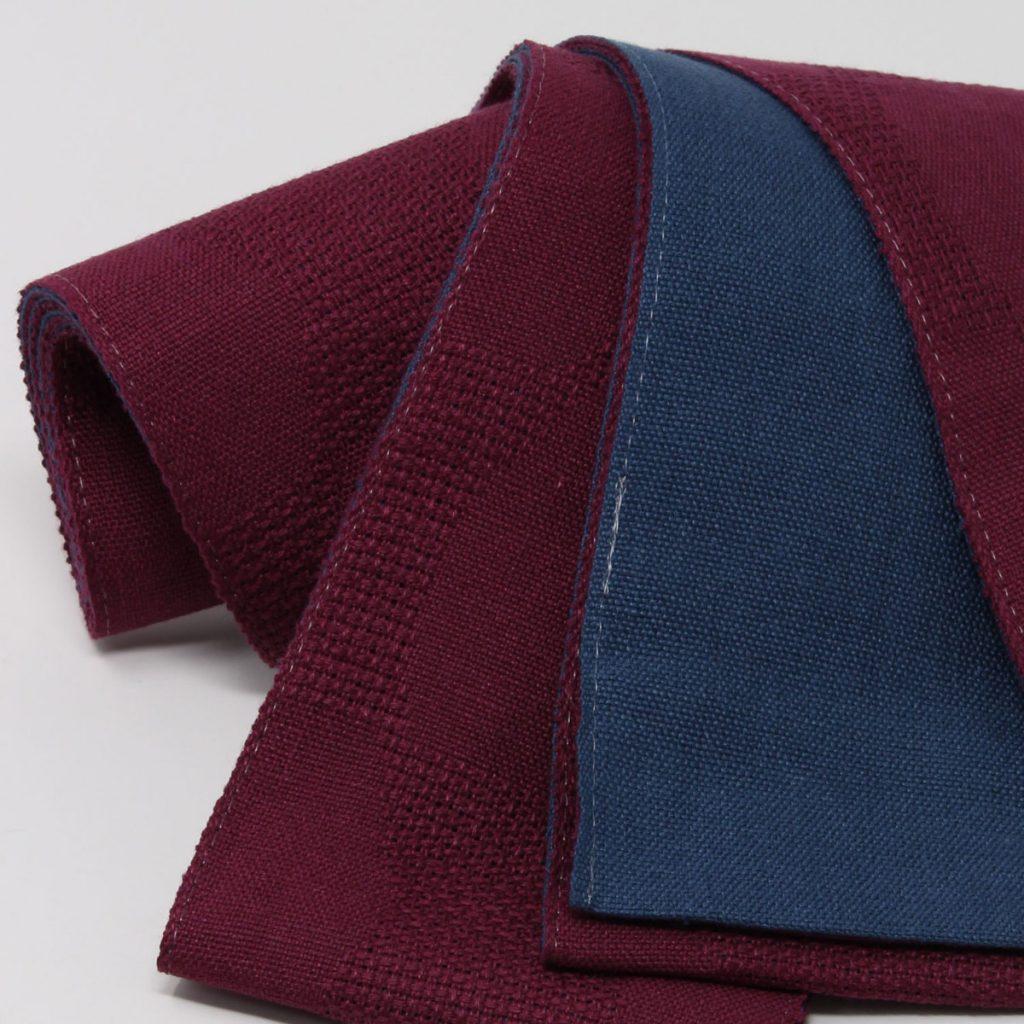 角帯 麻 赤帯 薄紫(7416)