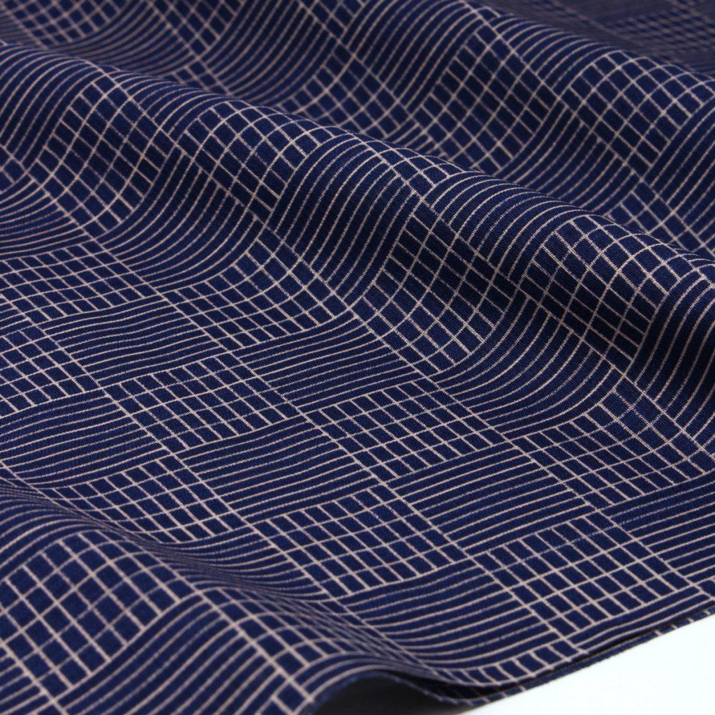 男着物 洗える着物 ハナエモリ 仕立て代込 紺 (7424)