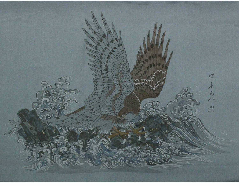 鷹の柄の羽裏