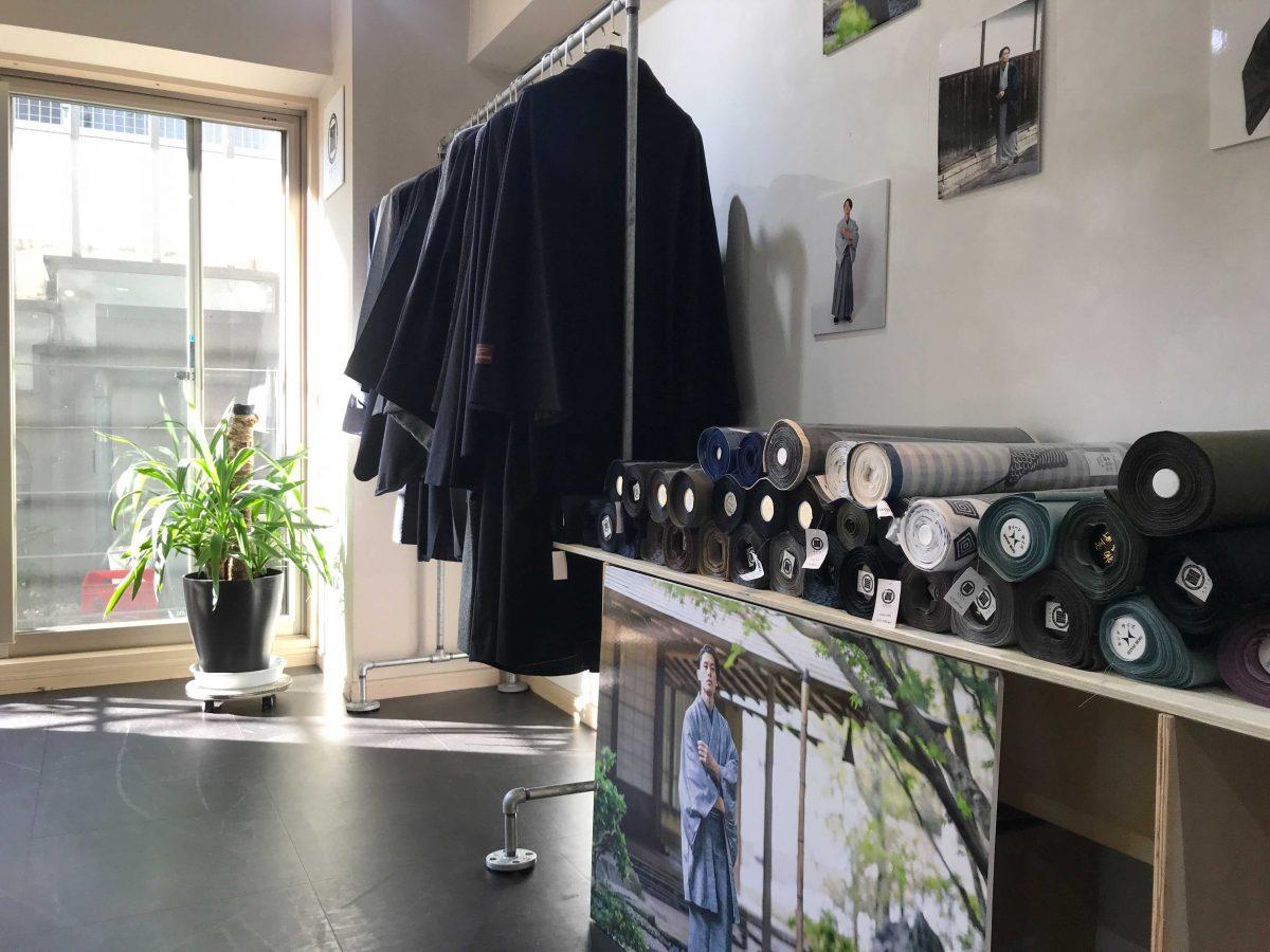 洗える着物とブランド小物のコーディネート