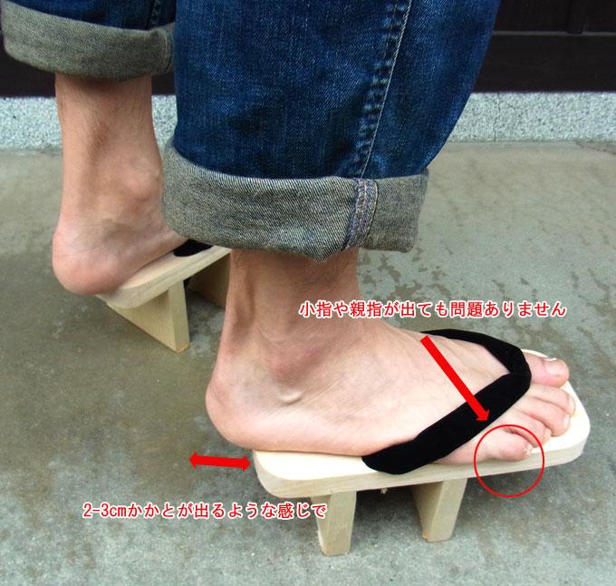 履物の履き方