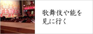 歌舞伎や能を見に行く